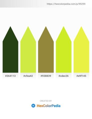 Palette image download - Dark Olive Green – Green Yellow – Steel Blue – Green Yellow – Green Yellow
