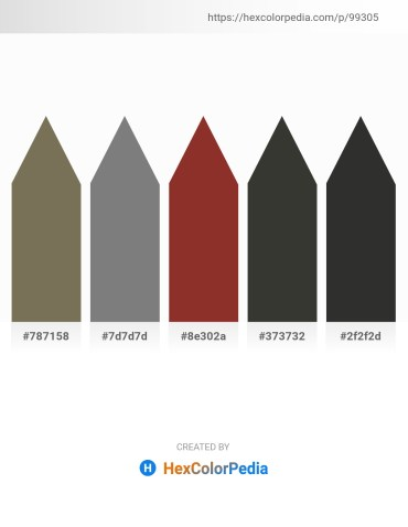 Palette image download - Dim Gray – Gray – Brown – Dim Gray – Black