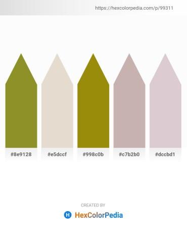 Palette image download - Olive Drab – Beige – Dark Goldenrod – Silver – Thistle