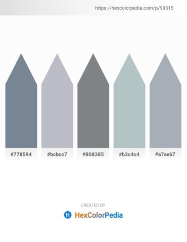 Palette image download - Light Slate Gray – Light Steel Blue – Slate Gray – Dark Sea Green – Light Slate Gray