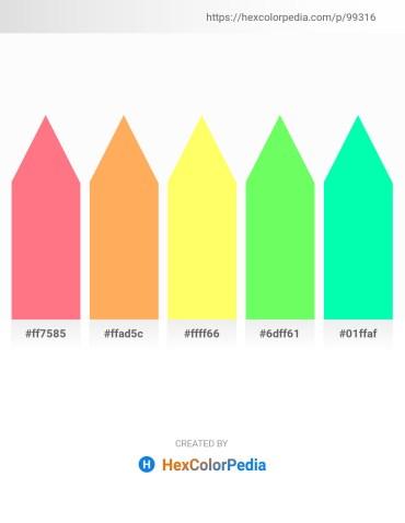 Palette image download - Salmon – Light Salmon – Navajo White – Pale Green – Medium Spring Green