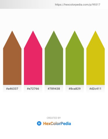 Palette image download - Sienna – Crimson – Olive Drab – Olive Drab – Goldenrod