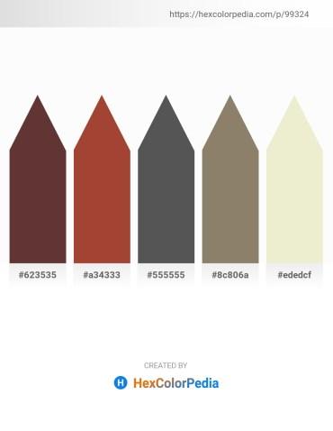 Palette image download - Saddle Brown – Sienna – Dim Gray – Gray – Beige