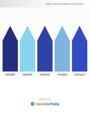 Palette image download - Midnight Blue – Sky Blue – Dark Slate Blue – Sky Blue – Royal Blue