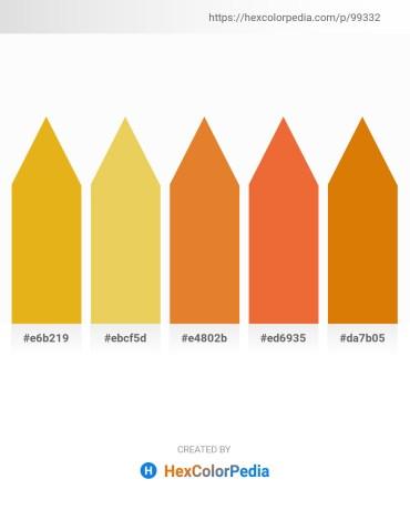 Palette image download - Goldenrod – Gray – Chocolate – Chocolate – Dark Goldenrod