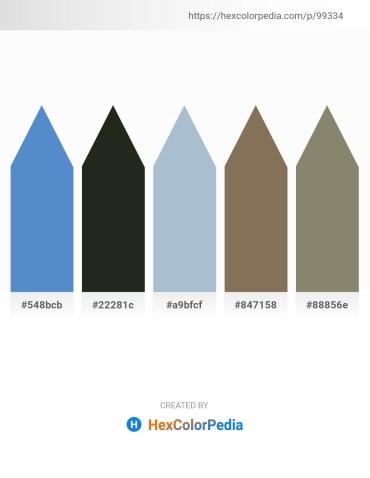 Palette image download - Steel Blue – Dark Slate Gray – Light Steel Blue – Dim Gray – Gray