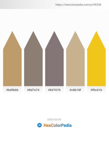 Palette image download - Dark Khaki – Gray – Gray – Tan – Gold