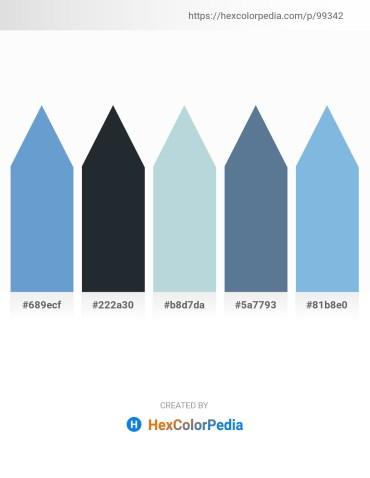 Palette image download - Steel Blue – Dark Slate Gray – Light Steel Blue – Slate Gray – Sky Blue