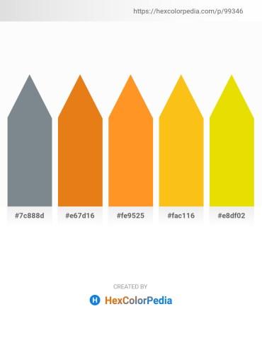 Palette image download - Slate Gray – Chocolate – Dark Orange – Gold – Gold