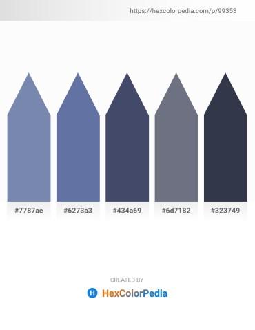 Palette image download - Light Slate Gray – Light Slate Gray – Steel Blue – Slate Gray – Dark Slate Gray