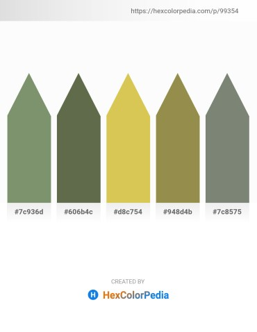 Palette image download - Dark Sea Green – Dark Olive Green – Burlywood – Dark Khaki – Gray