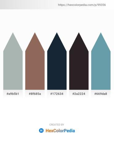Palette image download - Dark Sea Green – Dim Gray – Dark Slate Gray – Black – Cadet Blue