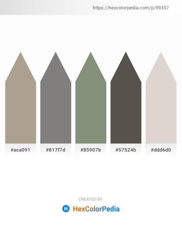 Palette image download - Rosy Brown – Gray – Dark Sea Green – Dim Gray – Light Gray