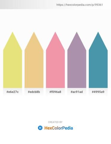 Palette image download - Khaki – Khaki – Light Coral – Dim Gray – Steel Blue
