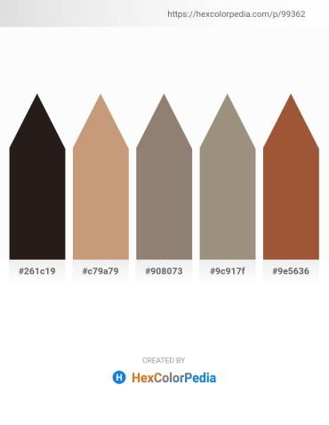 Palette image download - Black – Tan – Gray – Gray – Sienna