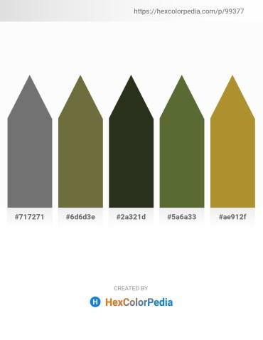 Palette image download - Slate Gray – Dark Olive Green – Light Steel Blue – Dark Olive Green – Peru