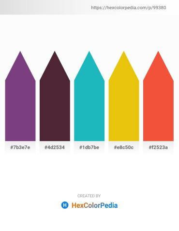 Palette image download - Dark Slate Blue – Pale Violet Red – Light Sea Green – Gold – Tomato