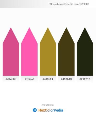 Palette image download - Pale Violet Red – Hot Pink – Peru – Dark Olive Green – Burlywood