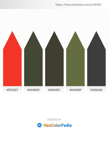Palette image download - Crimson – Dark Olive Green – Coral – Dark Olive Green – Dim Gray