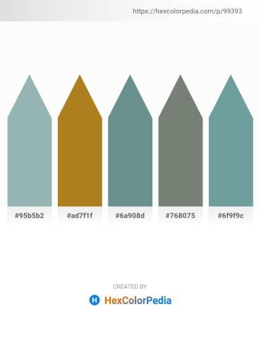 Palette image download - Dark Sea Green – Chocolate – Slate Gray – Slate Gray – Cadet Blue