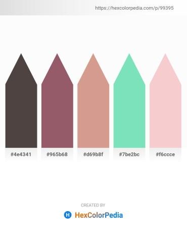 Palette image download - Dim Gray – Rosy Brown – Tan – Medium Aquamarine – Antique White