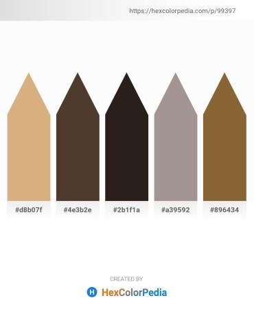 Palette image download - Burlywood – Rosy Brown – Black – Dark Gray – Sienna