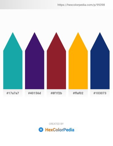 Palette image download - Light Sea Green – Midnight Blue – Brown – Orange – Midnight Blue