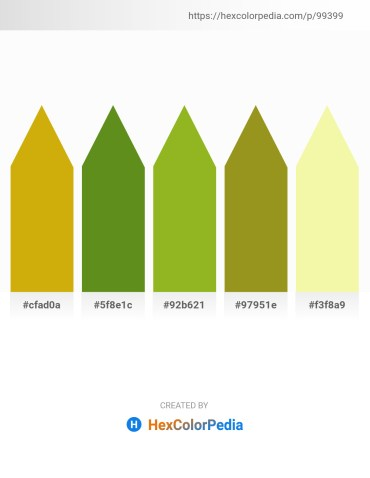 Palette image download - Dark Goldenrod – Olive Drab – Yellow Green – Olive Drab – Wheat