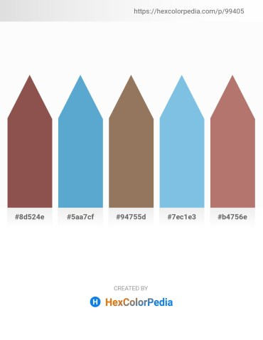Palette image download - Sienna – Indian Red – Gray – Sky Blue – Rosy Brown
