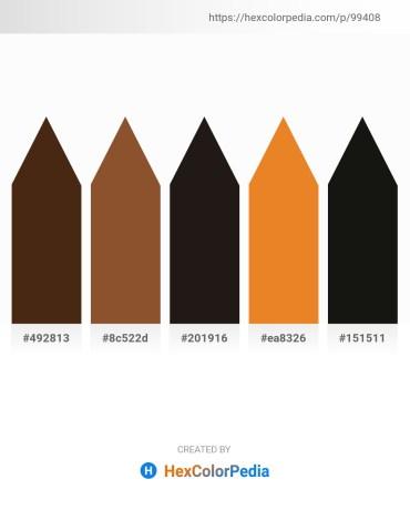 Palette image download - Saddle Brown – Sienna – Black – Chocolate – Black