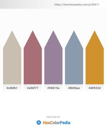 Palette image download - Silver – Rosy Brown – Light Slate Gray – Light Slate Gray – Peru