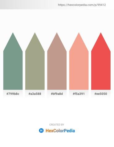 Palette image download - Cadet Blue – Dark Sea Green – Rosy Brown – Light Coral – Tomato