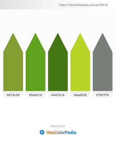 Palette image download - Olive Drab – Olive Drab – Olive Drab – Yellow Green – Slate Gray