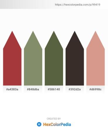 Palette image download - Brown – Gray – Dark Olive Green – Black – Tan