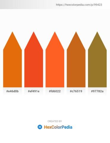 Palette image download - Dark Orange – Orange Red – Tomato – Chocolate – Indian Red