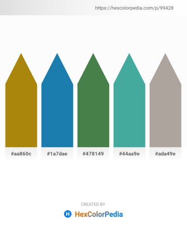 Palette image download - Dark Goldenrod – Dim Gray – Dark Olive Green – Rosy Brown – Dark Gray