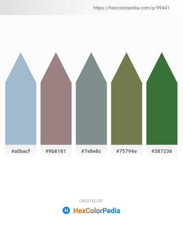 Palette image download - Light Steel Blue – Gray – Slate Gray – Dark Olive Green – Dark Olive Green