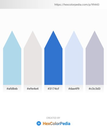 Palette image download - Light Blue – Gainsboro – Royal Blue – Lavender – Light Steel Blue