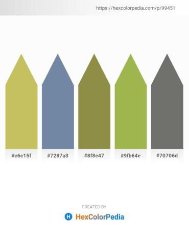 Palette image download - Dark Khaki – Light Slate Gray – Dark Olive Green – Dark Khaki – Dim Gray