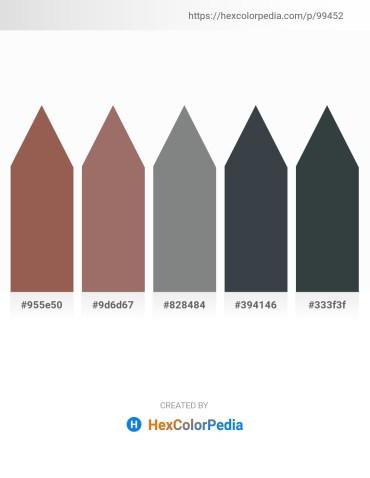 Palette image download - Sienna – Rosy Brown – Slate Gray – Dark Slate Gray – Dark Slate Gray