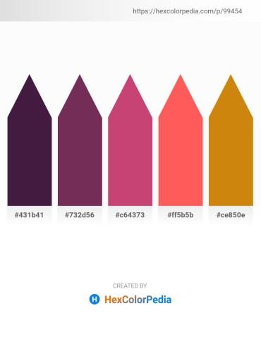 Palette image download - Midnight Blue – Salmon – Indian Red – Tomato – Dark Goldenrod