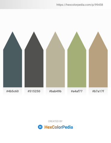 Palette image download - Dark Slate Gray – Dim Gray – Dark Sea Green – Dark Khaki – Rosy Brown