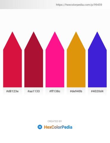 Palette image download - Crimson – Firebrick – Deep Pink – Dark Goldenrod – Blue Violet