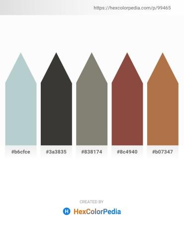 Palette image download - Light Steel Blue – Dim Gray – Gray – Sienna – Peru