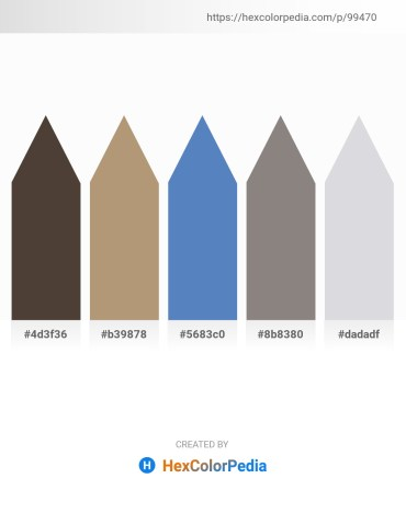 Palette image download - Dark Slate Blue – Rosy Brown – Steel Blue – Gray – Light Steel Blue