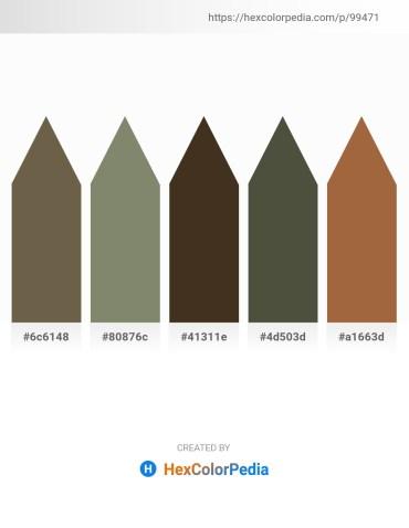 Palette image download - Dark Olive Green – Gray – Peru – Dark Olive Green – Sienna