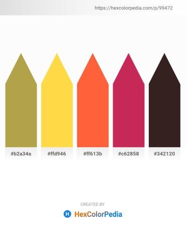 Palette image download - Dark Khaki – Light Sea Green – Tomato – Firebrick – Black
