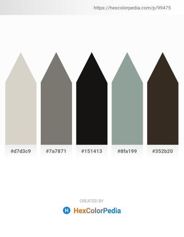 Palette image download - Light Gray – Gray – Black – Light Slate Gray – Tan