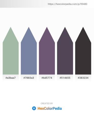 Palette image download - Dark Sea Green – Light Slate Gray – Light Blue – Steel Blue – Black