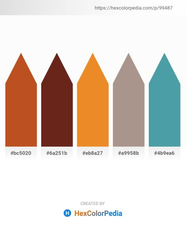 Palette image download - Chocolate – Saddle Brown – Goldenrod – Rosy Brown – Steel Blue